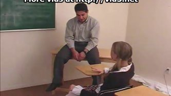 Schoolgirl is spanked by teacher - Schoolgirl Porn