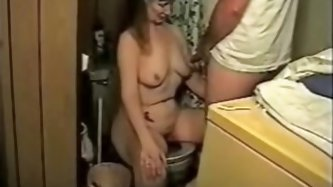 Pervert mature wife video. Amateur mature wife having a cum shot from her husband in her tits wile having a liquid. See more pervert mature wife