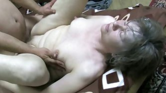 Young dude loves to stick his cock in old meat, if you know what I mean. Gray haired granny gets very lucky, because horny young fucker properly bangs