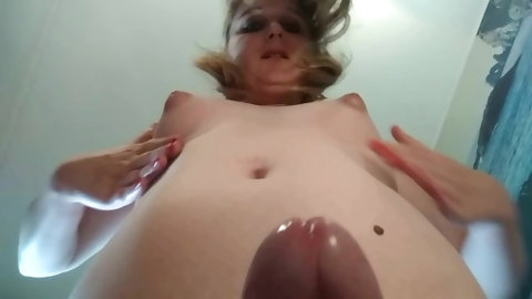 Tgirl Astra will sit on your face and make you suck her dick