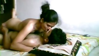 Kinky dark haired bitch calls her GF in her house to have fun. She rides a cock in cowgirl pose. Have a look at this chick in The Indian Porn sex clip