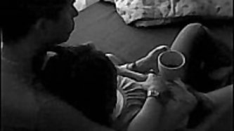Colombian couple gets very naughty and their long fuck session is captured by a black and white camera. This couple goes at it for 50 minutes, good fo